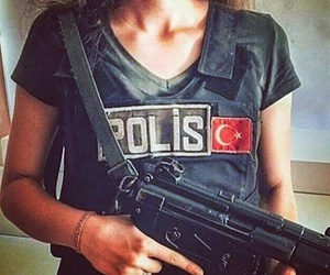 girl, police, and turkey image