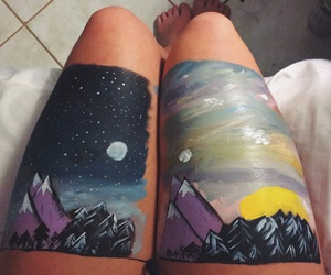 beauty, body art, and hiking image