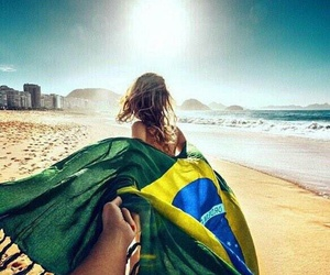 beach, brazil, and couple image