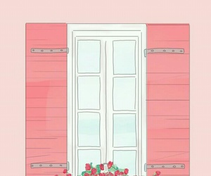 pink, wallpaper, and window image