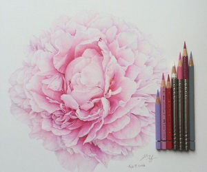 art, draw, and pink image