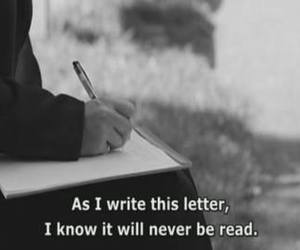 black and white, Letter, and read image