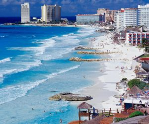 mexico, beach, and cancun image