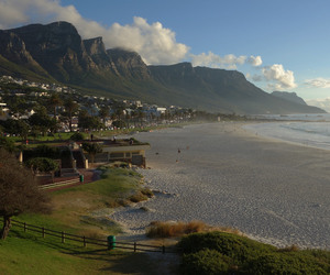 beach, cape town, and house image