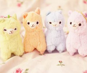 cute, alpaca, and kawaii image