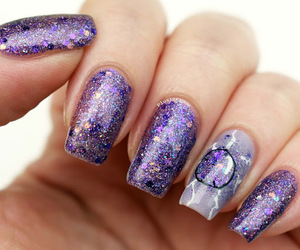 Marvel, nails, and purple nails image