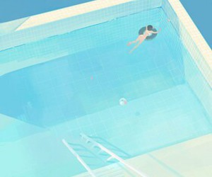 art, swimming pool, and draw image
