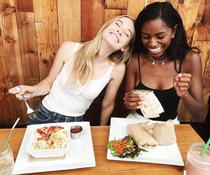 food, friendship, and friends image