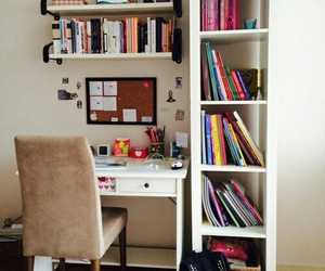 room, book, and study image