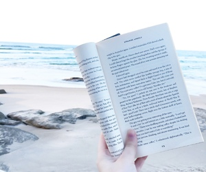 book, read, and beach image