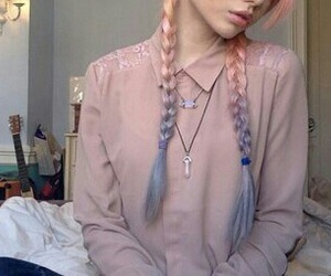 accessories, braids, and girl image