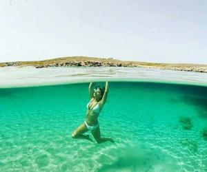 beach, spain, and sea image