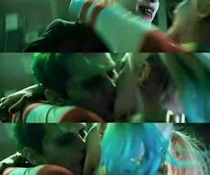 harley quinn, joker, and kiss image