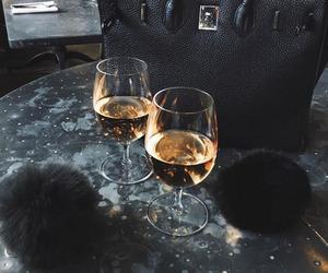 drink, bag, and black image