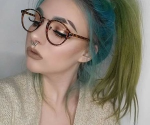 blue hair, cool, and eyes image