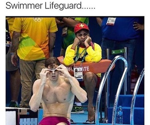 funny, job, and swimmer image