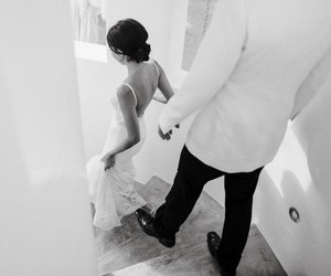 wedding, couple, and summer image
