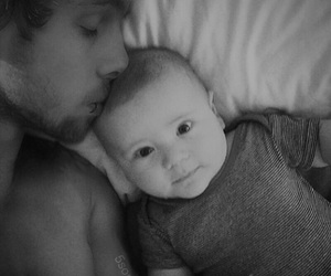 baby, daddy, and son image