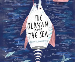 art, cover, and the old man and the sea image