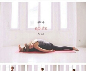 split, yoga, and fitness image