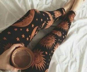 coffee, leggings, and sun image