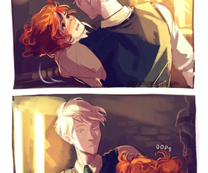 harry potter, scorpius malfoy, and rose weasley image