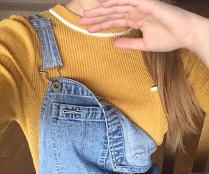denim, indie, and yellow image