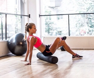 fitness, girl, and workout image