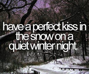 winter, kiss, and before i die image