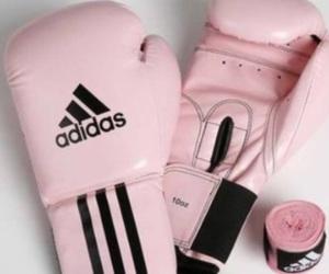 pink, adidas, and boxing image