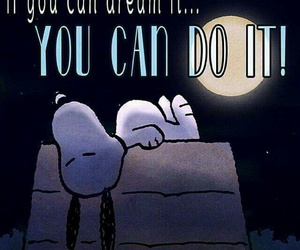Dream, snoopy, and peanuts image
