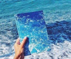 blue, sea, and book image