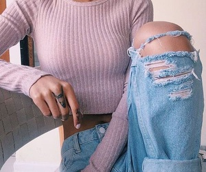 girl., pink, and outfit. image