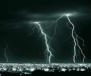 lightning, storm, and city image