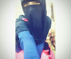 color, happy, and hijab image