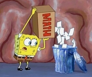 bin, math, and spongebob image