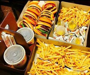 chips, delicious, and hamburger image