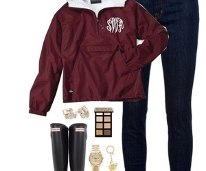 monogram, outfit, and preppy image
