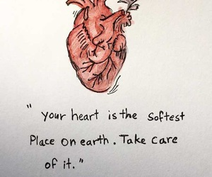 heart, quotes, and art image