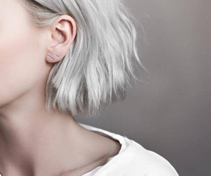 hair, silver, and white image