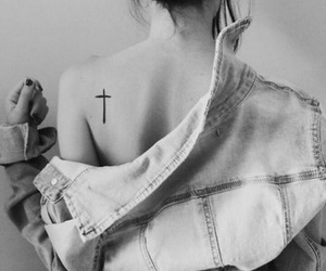 tattoo, girl, and cross image