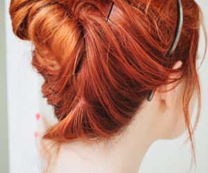 hair, redhead, and red image