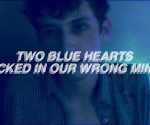 blue, Lyrics, and music video image