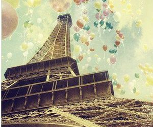 paris, balloons, and eiffel tower image