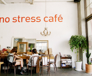cafe, vintage, and stress image