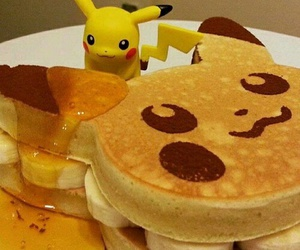 pikachu, pokemon, and food image