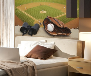 removable wall murals, baseball decor, and sports decor image