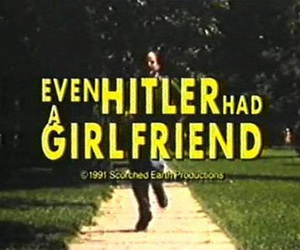 hitler, girlfriend, and black and white image