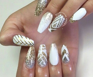 design, nails, and gold image