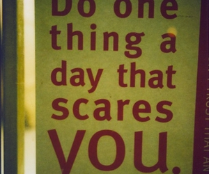 text and scare image